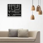 Geometrik Desenli Muhammed Yazılı Ahşap Duvar Panosu