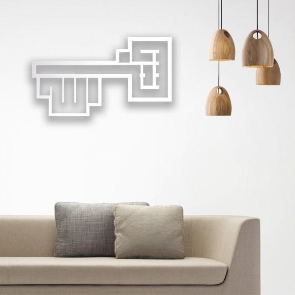 Anahtar Desenli Bismillah Yazılı Ahşap Duvar Panosu