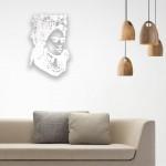 Frida Kahlo Figürlü Ahşap Duvar Panosu
