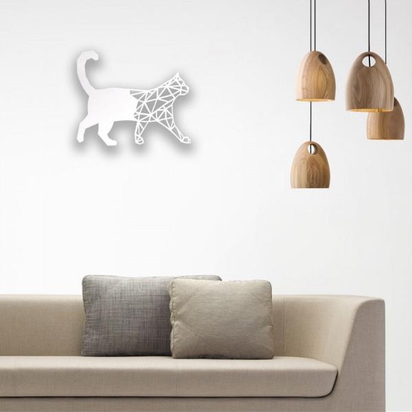 Kedi Desenli Ahşap Duvar Panosu
