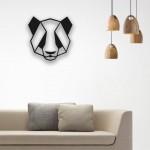 Panda Desenli Ahşap Duvar Panosu