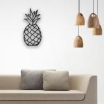 Ananas Desenli Ahşap Duvar Panosu