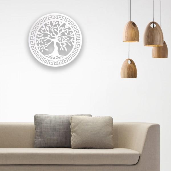 Zeytin Ağacı Desenli Ahşap Duvar Panosu