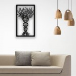 Gen Ağacı Desenli Ahşap Duvar Panosu