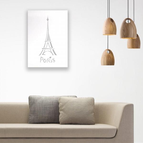 Eiffel Kulesi Desenli Ahşap Duvar Panosu