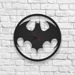 Batman Logolu Ahşap Duvar Saati