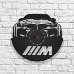 BMW Logolu Ahşap Duvar Saati