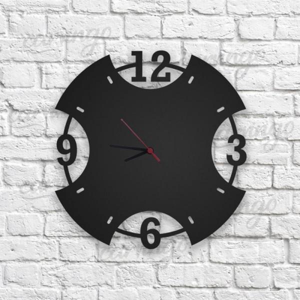 Çapraz Ahşap Duvar Saati
