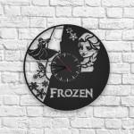 Frozen Figürlü Ahşap Duvar Saati