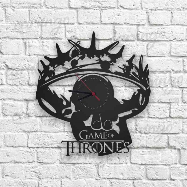 Game of Thrones Figürlü Ahşap Duvar Saati