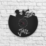 Jazz Figürlü Ahşap Duvar Saati