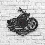 Harley Davidson Motor Logolu Ahşap Duvar Saati
