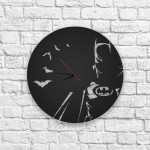 Gotham City Figürlü Ahşap Duvar Saati