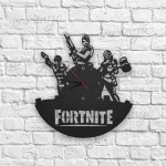 Fortnite Figürlü Ahşap Duvar Saati