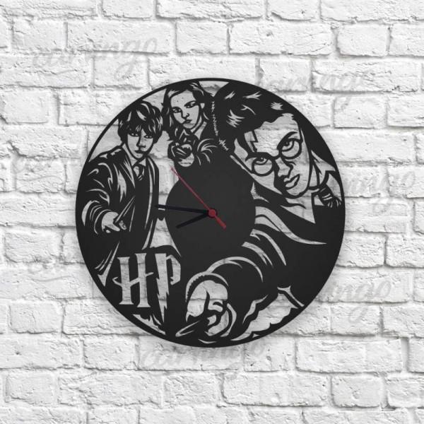 Harry Potter Figürlü Ahşap Duvar Saati