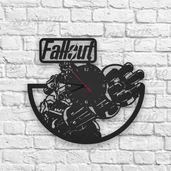 Fallout Figürlü Ahşap Duvar Saati
