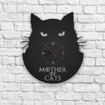 Mother of Cats Figürlü Ahşap Duvar Saati