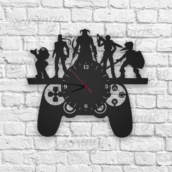 Playstation Tasarımlı Ahşap Duvar Saati