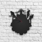 Müzik Grubu Figürlü Ahşap Duvar Saati