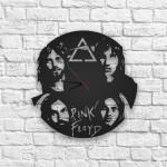 Pink Floyd Figürlü Ahşap Duvar Saati
