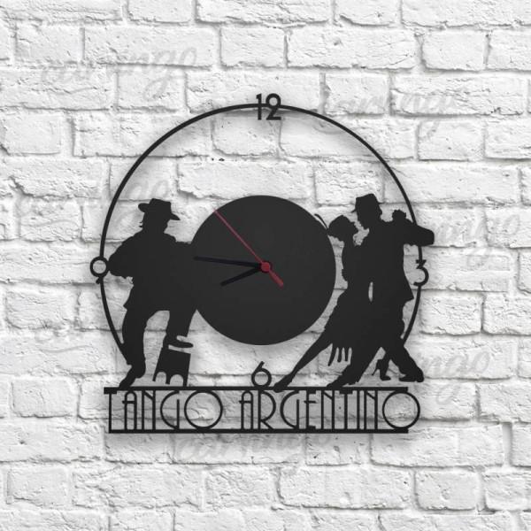 Tango Figürlü Ahşap Duvar Saati