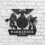 Warhammer Figürlü Ahşap Duvar Saati