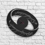 Yüzüklerin Efendisi Logolu Ahşap Duvar Saati
