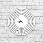 Tevekkül Yazılı Ahşap Duvar Saati
