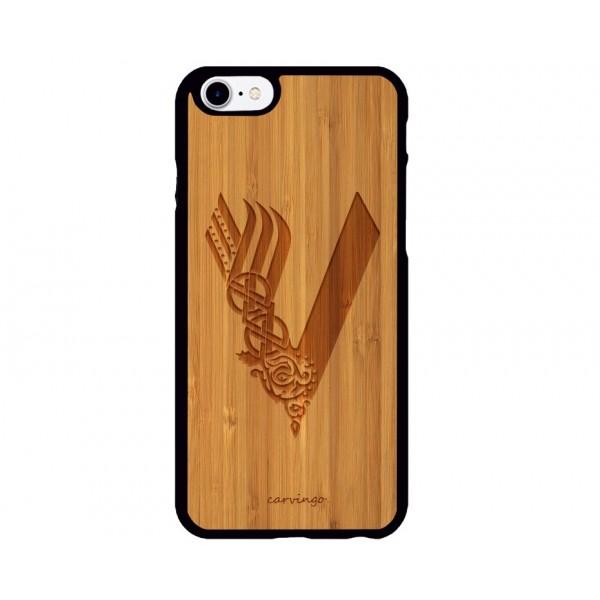 Vikings Logosu iPhone Ahşap Telefon Kılıfı