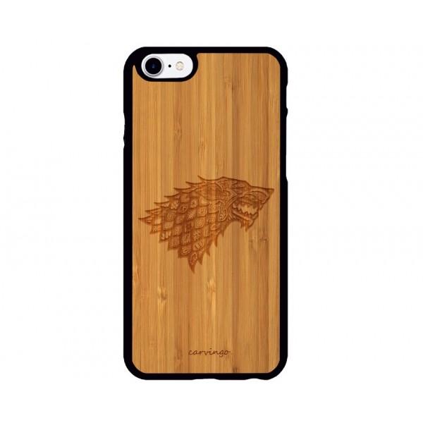 Stark Logolu iPhone Ahşap Telefon Kılıfı