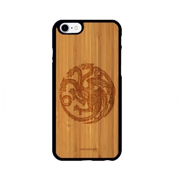 Targaryen Figürlü iPhone Ahşap Telefon Kılıfı