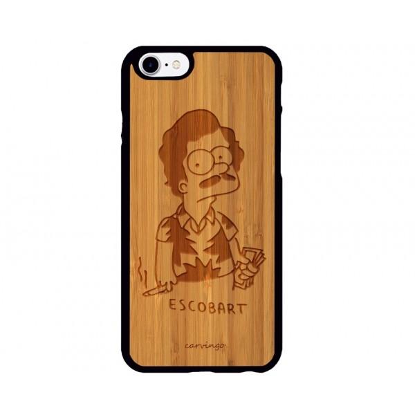 Escobart Desenli iPhone Ahşap Telefon Kılıfı