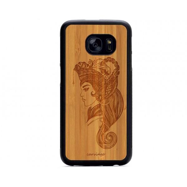 Sultan Figürlü Samsung için Ahşap Telefon Kılıfı