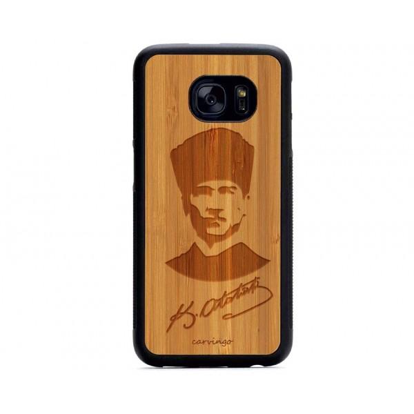 Atatürk Portre 6 Samsung Ahşap Telefon Kılıfı