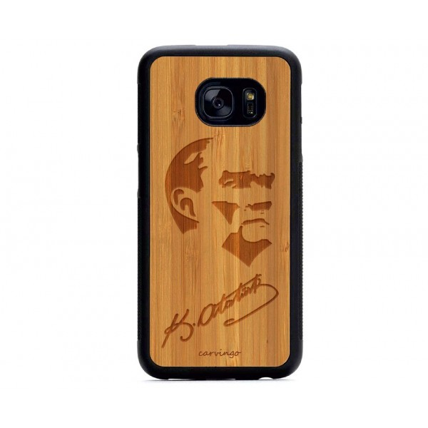 Atatürk Portre 8 Samsung Ahşap Telefon Kılıfı