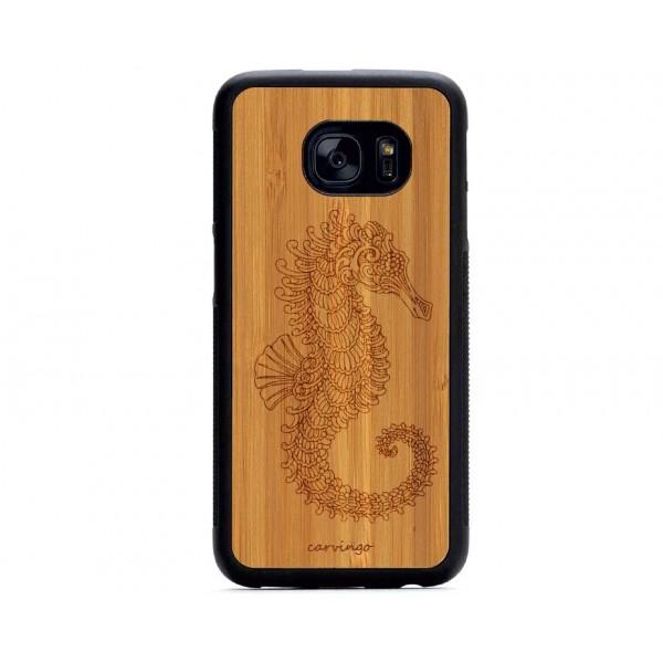 Denizatı Figürlü Samsung Ahşap Telefon Kılıfı