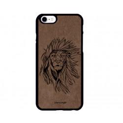 Aslan Figürlü iPhone için Süet Telefon Kılıfı