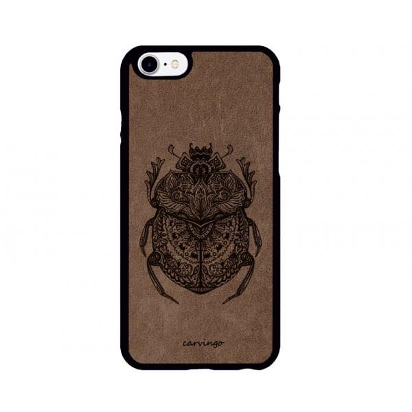 Büyülü Böcek Figürlü iPhone Süet Telefon Kılıfı