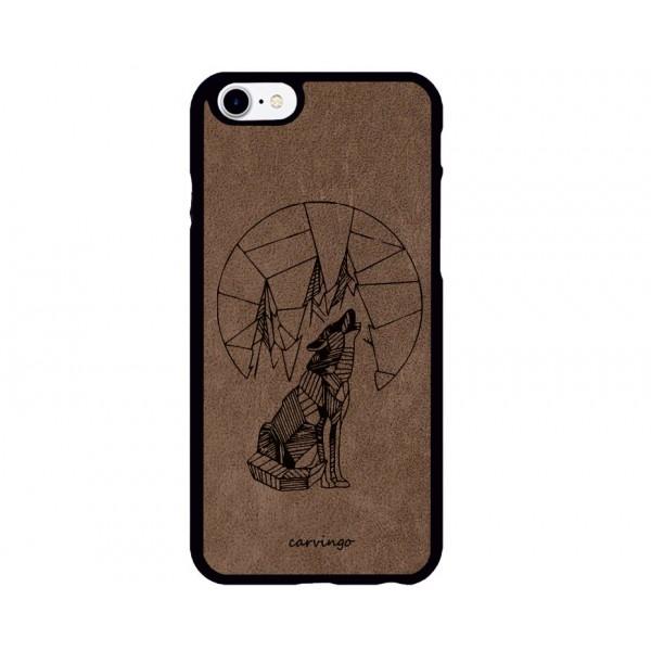 Kurt Figürlü iPhone Süet Telefon Kılıfı