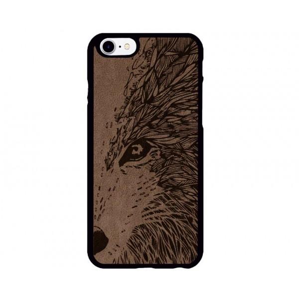 Fox Figürlü iPhone için Süet Telefon Kılıfı