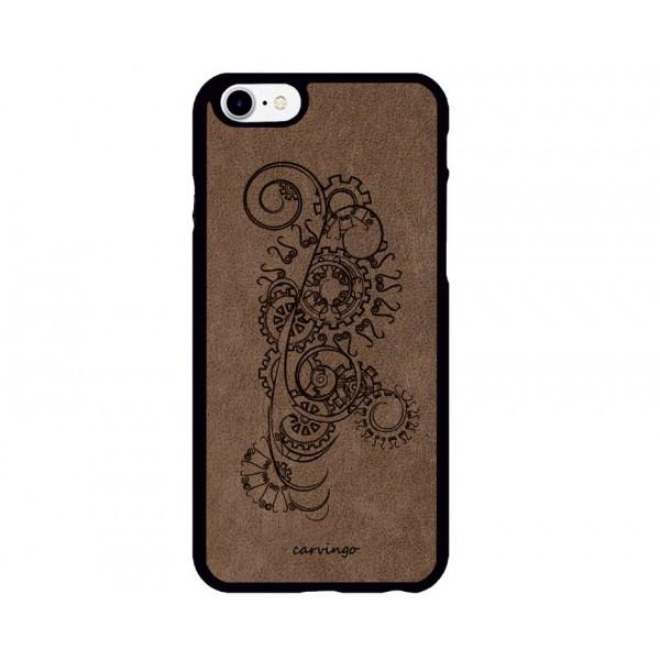 Mecha Desenli iPhone Süet Telefon Kılıfı
