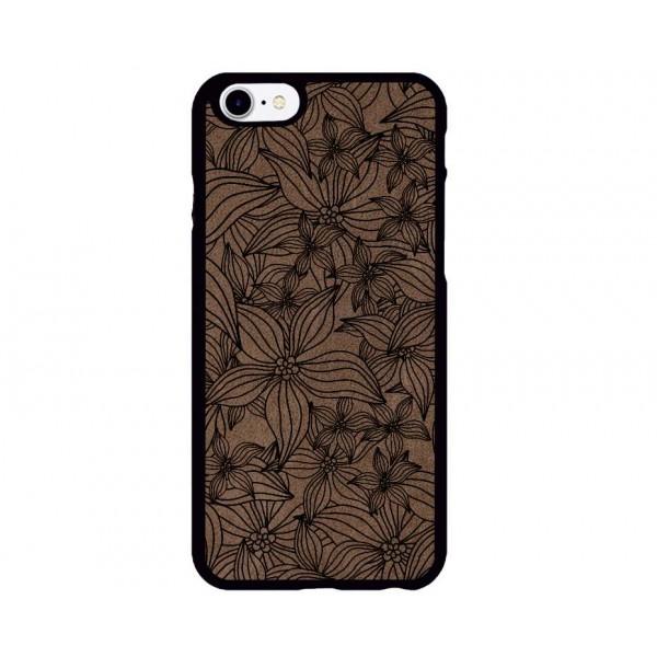 Çiçek Bahçesi Desenli iPhone Süet Telefon Kılıfı