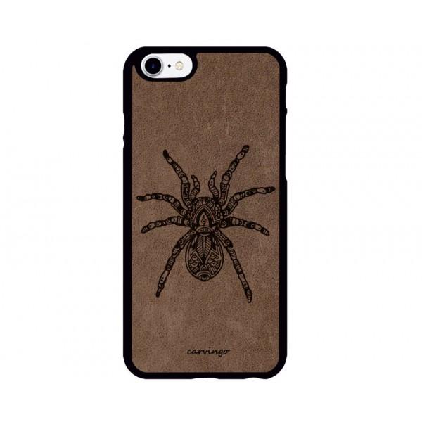 Örümcek Figürlü iPhone Süet Telefon Kılıfı
