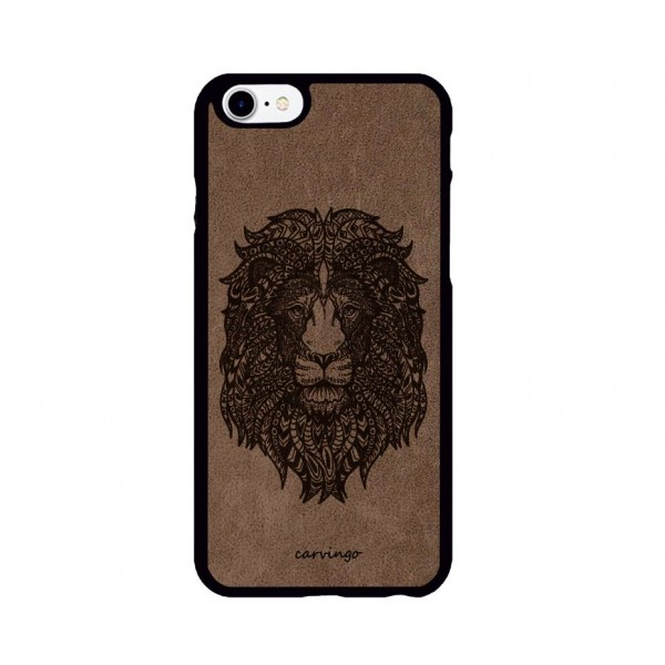 Mandala Aslan Figürlü iPhone Süet Telefon Kılıfı