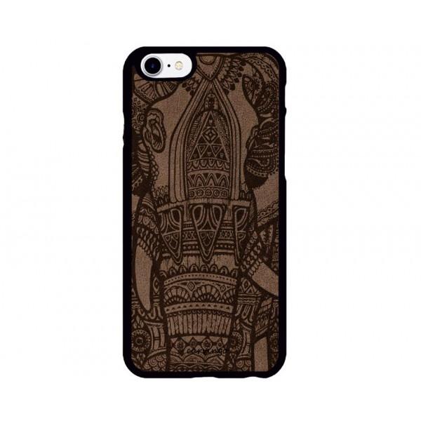 Mandala Fil Desenli iPhone Süet Telefon Kılıfı