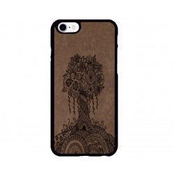 Ağaç Desenli iPhone Süet Telefon Kılıfı