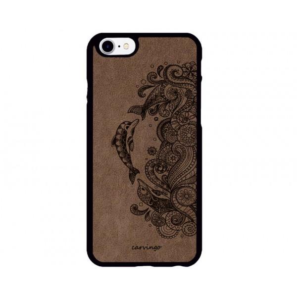 Yunus Figürlü iPhone Süet Telefon Kılıfı