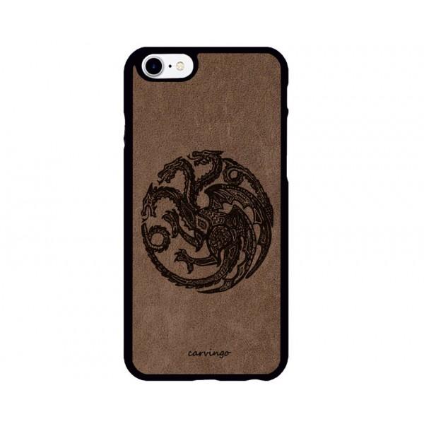 Targaryen Figürlü iPhone Süet Telefon Kılıfı