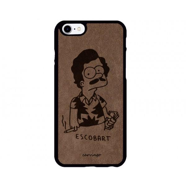 Escobart Desenli iPhone Süet Telefon Kılıfı