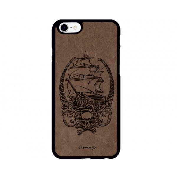 Gemi Figürlü iPhone Süet Telefon Kılıfı